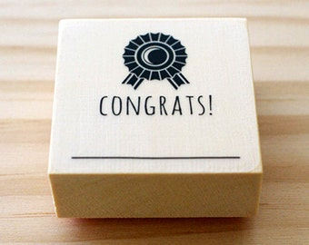 CLEARANCE SALE - Rubber stamp - CONGRATS
