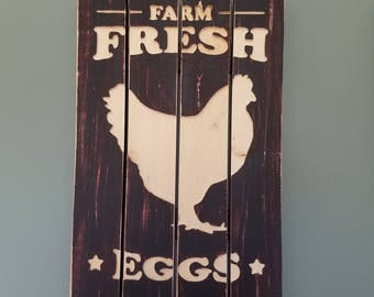 Rustic Farm Fresh Eggs sign