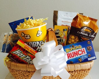 Movie night baskets/Date night/Food Baskets/Family Night/ Thank you/graduation