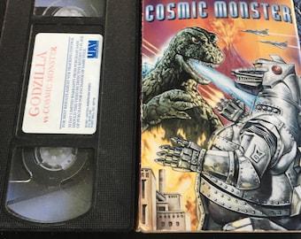 Godzilla VS the Cosmic Monster RARE Sci Fi VHS tape