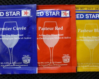 Red Star Wine Yeast Assortment - 3 Pack by FermentStuff