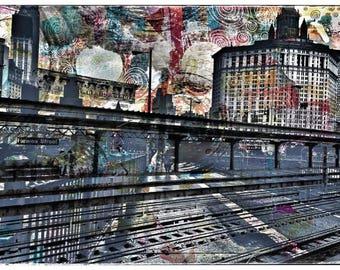 New York, Brooklyn Bridge, Hewes Street, collage, printing, photography, mixed media, subway, Manhattan, Brooklyn,