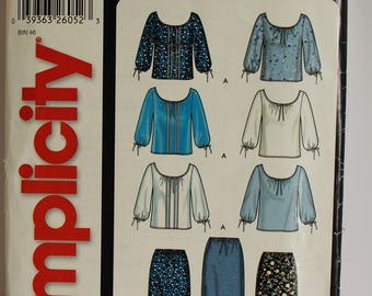 Simplicity It's So Easy skirt/blouse pattern, sizes 8-18