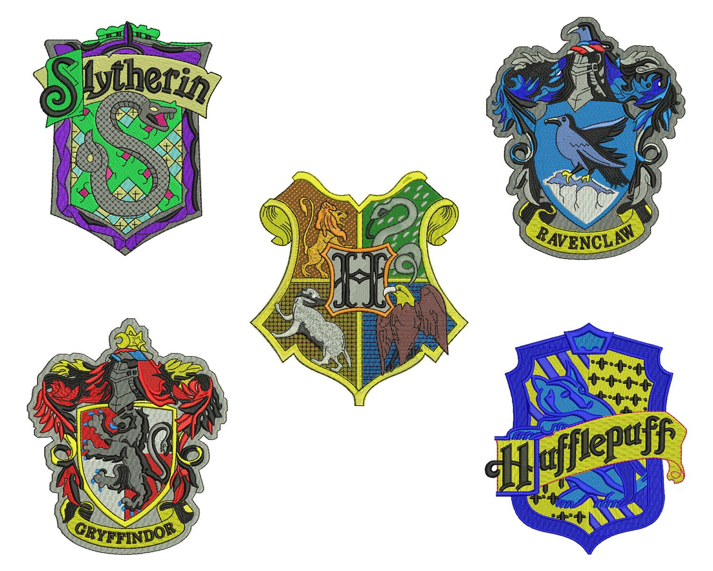 Harry potter emblem embroidery design sizes