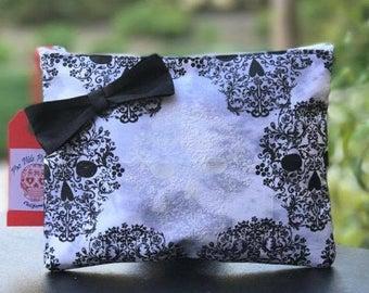 Sugar Skull Vintage Black & White Handbag Purse