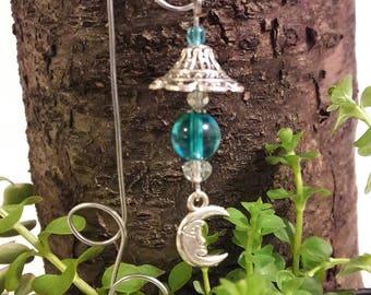 Fairy garden lantern, wind chime.  Miniature garden accessory
