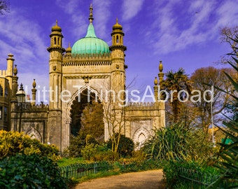 Brighton Royal Pavilion, photo on canvas, England, travel photography, digital art, traveler gift, scenic, printable art, canvas, giclee