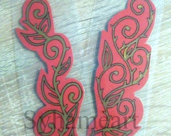 Red flower bookmark