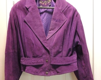 Vintage Purple Suede Jacket