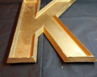 """12"""" Cast Aluminum Letter K"""