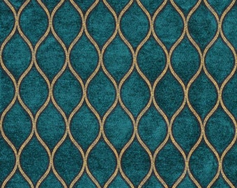 Premium Fabric Peacock Gold Curtains Valance