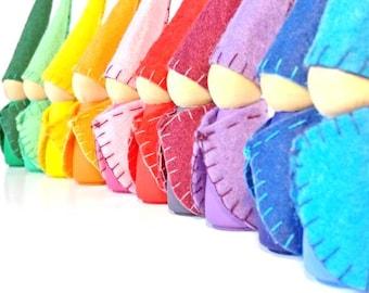 Rainbow Forest Gnomes Little Peg Dolls Waldorf
