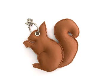 Squirrel leather pendant