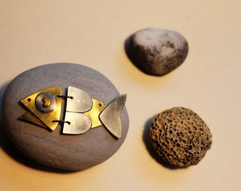 "Necklace/pendant ""articulated fish"""