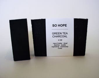 SO HOPE - Green Tea and Charcoal Soap 4oz