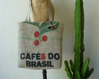 "Double lined canvas bag "" Cafe do Bresil"""