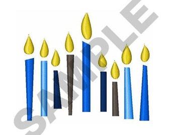 Hanukkah Candles - Machine Embroidery Design
