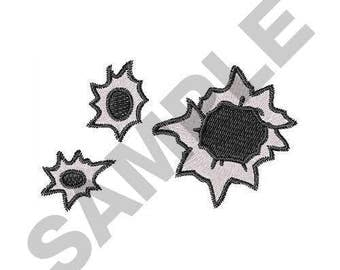Bullet Holes - Machine Embroidery Design