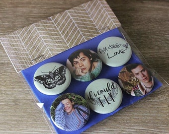 "Harry Styles - Pinback Button/Badge Pack (1.25"") - Another Man, One Direction, All The Love"