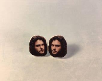 Jon Snow Stud Earrings