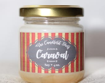 Caraval bookish candle