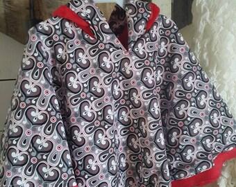 """Poncho Cloak- """"Shianne""""  Girls Fleece lined Hooded"""