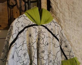 """Girls """"Stasha"""" Fleece lined Hooded Poncho Cloak"""