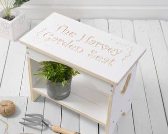 Garden Furniture, Wooden Garden Furniture, Personalised Wooden Garden Seat, Wooden Bench, Wooden Seat,
