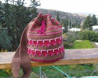 crochet bag, hand made of cotton