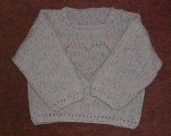 Handknitted Girls Heart Motif Jumper