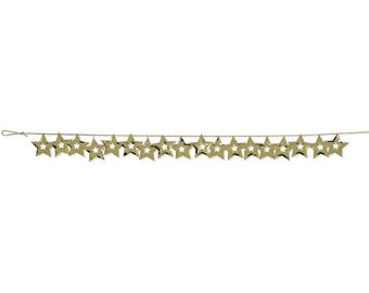 Gold Star Garland/ Gold Star Banner/ Gold Star Party Decor