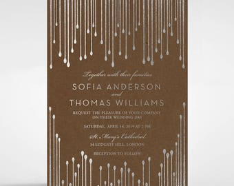 Dripping Luxe Foil Wedding Invitation - Craft 116087