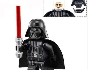 Darth Vader Mini Figure with Lightsaber | Custom Star Wars | 100% Compatible | #083