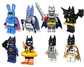 8x NEW BATMAN - Different Kinds | Custom Mini Figure - For Cake Toppers or Party Favors | BTN08