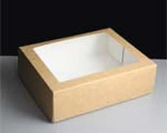 Kraft Gift Box with Window - Small