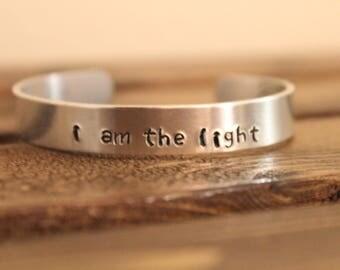 I Am The Light Hand-Stamped Bracelet