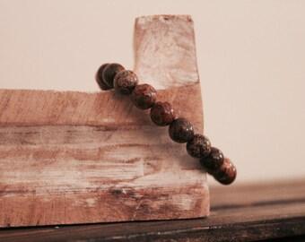 Leopard Jasper Hand-beaded Bracelet