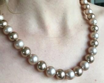 Handmade Swarovski pearl necklace