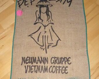 Coffee bag table runner/tapestry 97 x 54 cm