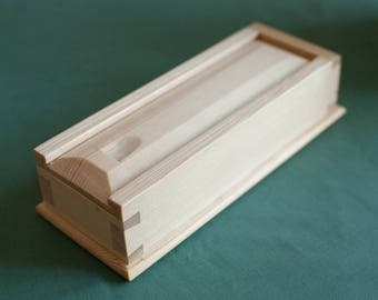 Dovetail Sliding Box - Shaker Style - Pine