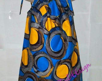 African dress, pillowcase dress, ankara dress