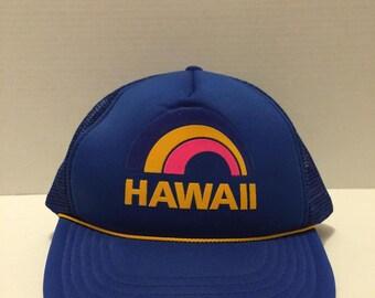 Vintage Hawaii Mesh Snapback Hat