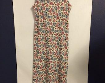 Vintage 90's Flowered Maxi Dress
