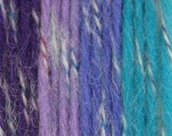 Wool Mohair Yarn 2 x  100g/Skeins Color: Easter Egg (Purple Blue Light Purple)