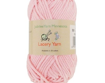 Lacery Yarn 100g - 2 Skeins - 100% Cotton - Marina Pink- Color 501