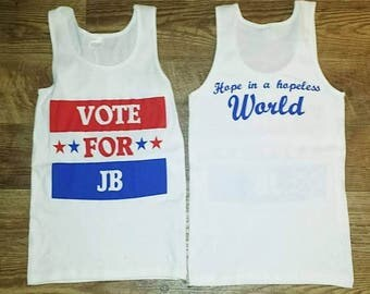 Vote For JB Tank Top Widespread Panic Lot Shirt
