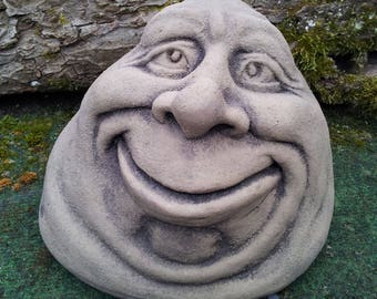 PE 26 art antique sandstone look garden spirit egghead egg head