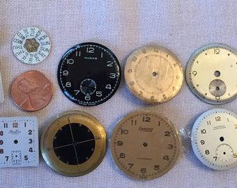 13 Vintage  Clock Faces - lot 7