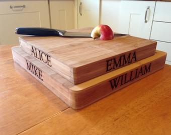 Personalised Family Chopping Block
