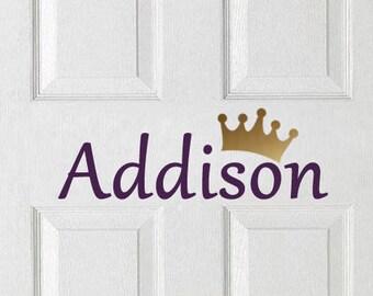 Name Decal - Personalized Kids Door Sign - Vinyl Door Decal - Wall decal - Kids Bedroom Decal - Kids Bedroom Sticker #27